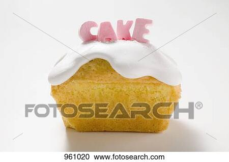 Loaf Cake Clipart : Stock Photography of Iced loaf cake with the word  Cake ...