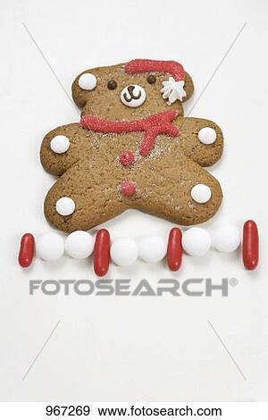 stock fotograf weihnachten keks teddy bear und. Black Bedroom Furniture Sets. Home Design Ideas