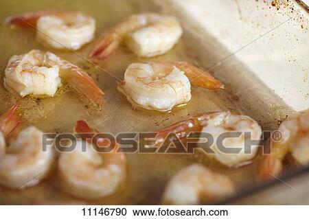 Stock Photography - Sauteed Shrimp in Butter Garlic Sauce. Fotosearch ...