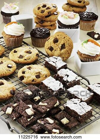 Images of A Display of Chocolate Chunk Cookies, Brownies and Cupcakes ...