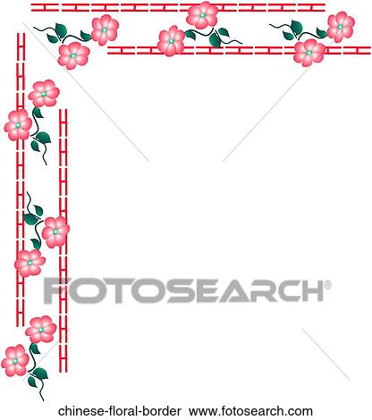 Chinese Decorative Border Chinese Floral Border