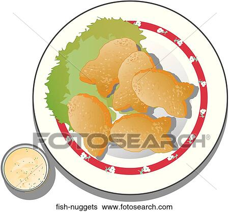 Stock Illustration of Fish Nuggets fish-nuggets - Search Clip Art, Drawings, Fine Art ...