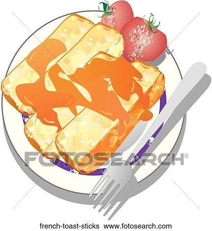 french toast sticks clipart