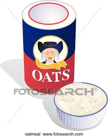 Drawing of Oatmeal oatmeal - Search Clipart, Illustration ...