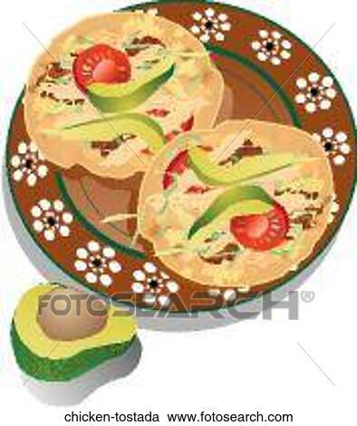 Stock Illustrations of Chicken Tostada chicken-tostada ...