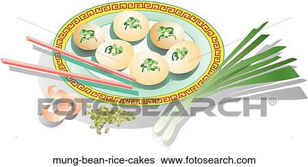 Rice Cake Clip Art : Stock Illustration of Mung Bean Rice Cakes mung-bean-rice ...