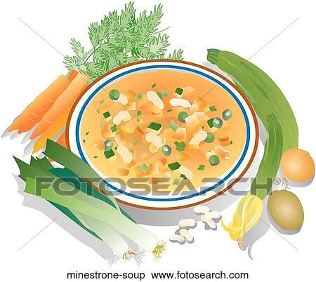 Stock Illustration of Minestrone Soup minestrone-soup ...