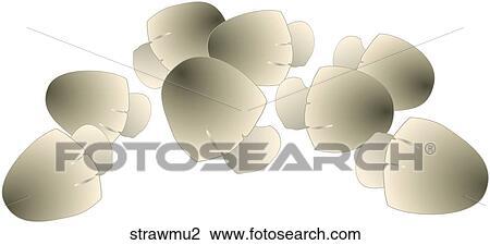 clip art stroh pilze strawmu2 suche clipart poster illustrationen zeichnungen und eps. Black Bedroom Furniture Sets. Home Design Ideas