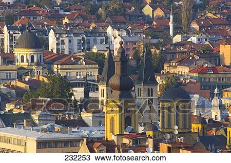 stock foto geb ude in stadt sarajevo bosnien herzegovina belgrad serbien ehemaliges. Black Bedroom Furniture Sets. Home Design Ideas