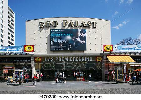 stock fotograf fassade von kino halle zoo palast charlottenburg berlin deutschland. Black Bedroom Furniture Sets. Home Design Ideas