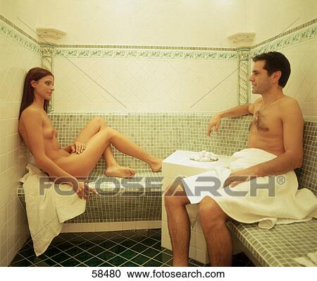 sauna pärchen frau versohlen