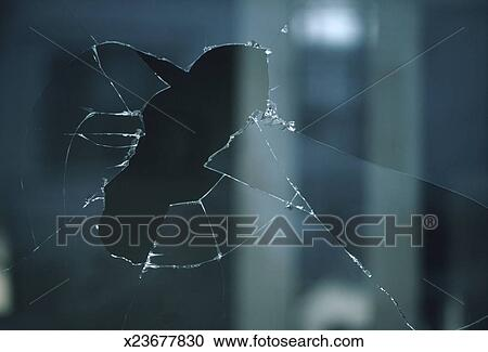 Stock photography of broken window close up x23677830 for Broken glass mural