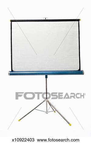 Stock Photo of Movie projector screen on white background ...