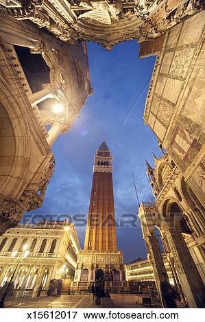 immagine italia venezia st ha contrassegnato quadrato con campanile basilica san marco e. Black Bedroom Furniture Sets. Home Design Ideas