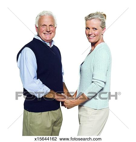 Stock Photo - Portrait of a husband and wife holding hands  Fotosearch    Portrait Of A Husband And Wife