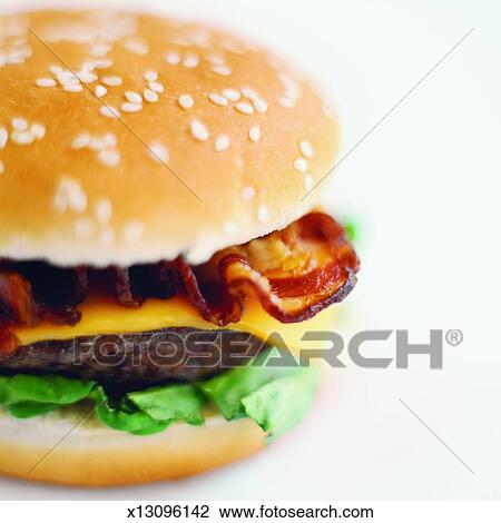 Bacon Cheeseburger Clip Art Stock photo - close-up of bacon    Bacon Cheeseburger Clip Art