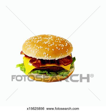 Bacon Cheeseburger Clip Art Stock image - close-up of bacon    Bacon Cheeseburger Clip Art