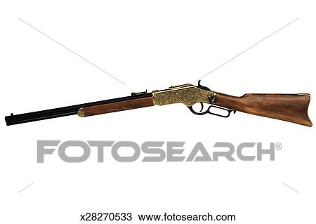 Stock Photo of an old fashioned rifle x28270533 - Search ...