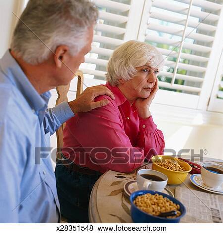sentando esposa
