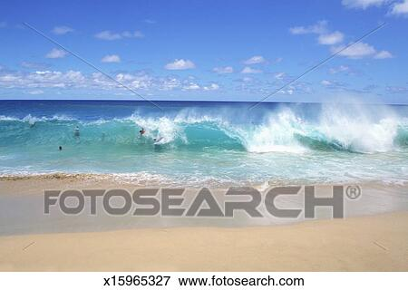 Picture Of Ocean Waves Breaking On The Beach Sandy Park
