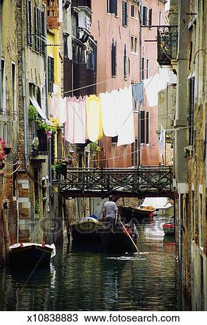 Stock Photo Of Laundry Hanging Over Ghetto Canal Venice
