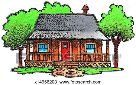 Drawing Of Cottage X14956203