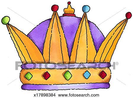 手绘图 - 王冠