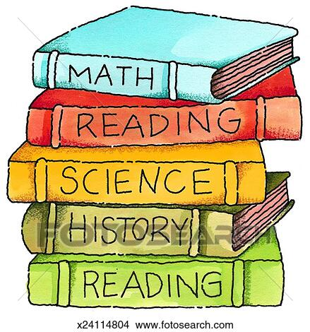 Drawing - School Books. Fotosearch - Search Clip Art Illustrations, Wall Posters, and EPS Vector Graphics Images