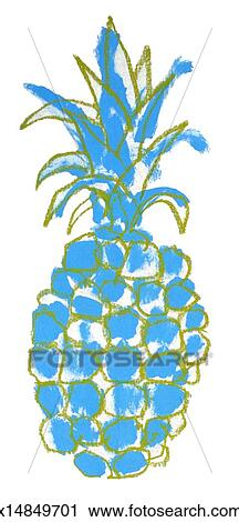 Clipart of Blue Pineapple x14849701 - Search Clip Art ...