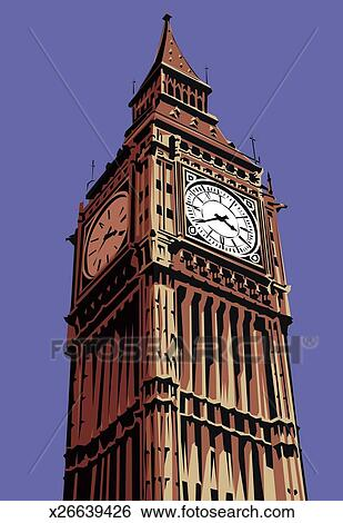 Stock Illustration of Big Ben x26639426 - Search Clip Art ...