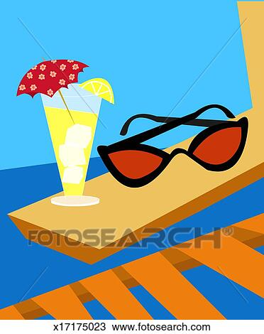 Drawing Of Sunglasses And Cold Drink X17175023 Search