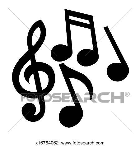 Archivio fotografico note musicali x16754062 cerca - Note musicali da colorare pagina da colorare ...