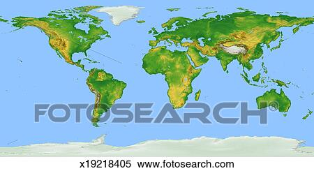 Stock image of vegetation map flat projection x19218405 search vegetation map flat projection gumiabroncs Images