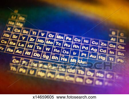 Stock image of periodic table of elements x14659605 search stock periodic table of elements urtaz Gallery