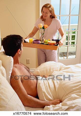 stock photos breakfast in bed 2