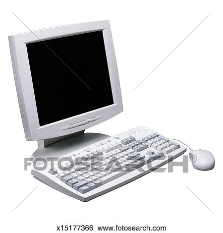 banque d 39 images moniteur ordinateur souris et clavier x15177366 recherchez des photos. Black Bedroom Furniture Sets. Home Design Ideas