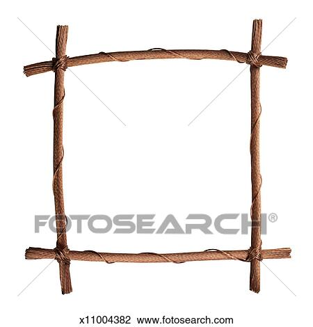 stock photo of copper wire picture frame x11004382