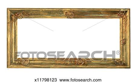 stock photo of picture frame with copper wire x11798123
