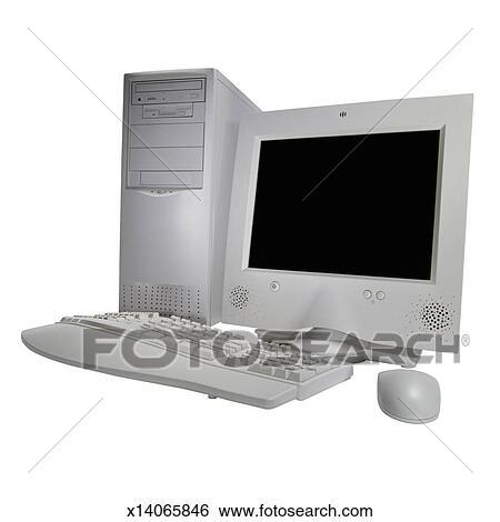 Banque d 39 images pc clavier ergonomique et moniteur for Ecran pc moniteur