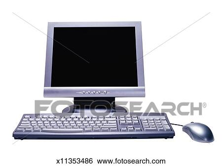 banque d 39 images moniteur ordinateur clavier et souris x11353486 recherchez des photos. Black Bedroom Furniture Sets. Home Design Ideas