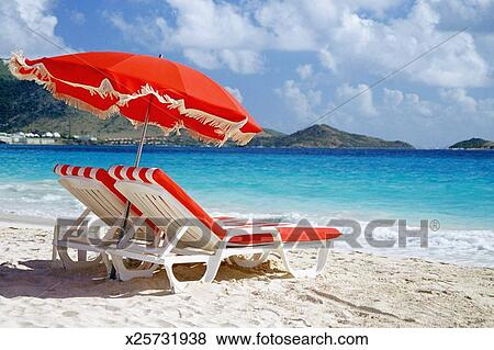 Pictures of Caribbean St Martin Orient Beach Lounge chair and – Lounge Chair Umbrella