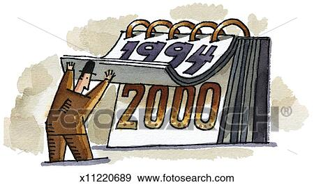 Stock Illustration of Year 2000 x11220689 - Search Vector Clipart ...