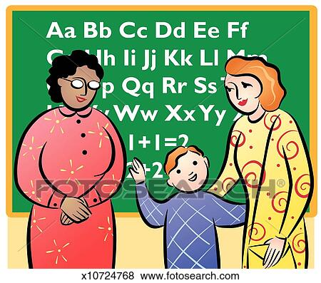 Stock Illustration of Parent-Teacher Conference x10724768 - Search ...