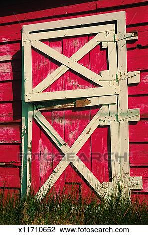 Red Barn Doors Clip Art stock photo of farm, barn, door, daylight, building, architecture