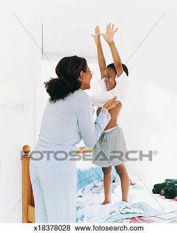 help mom get undressed