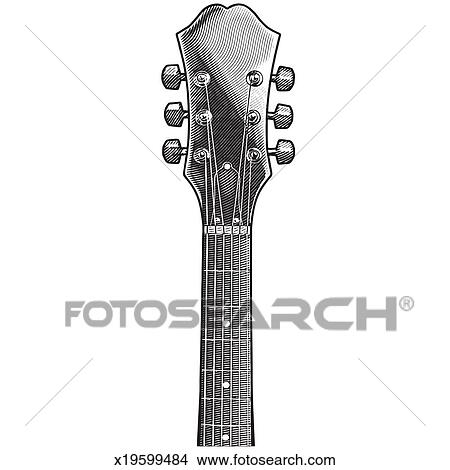 Stock Photo Of Guitar Neck X19599484