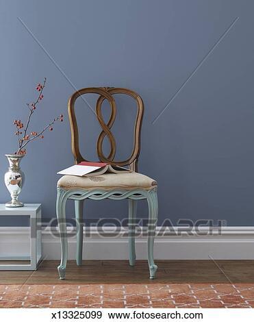 stock fotograf traditionelle stuhl mit malen beine x13325099 suche stock fotografie. Black Bedroom Furniture Sets. Home Design Ideas