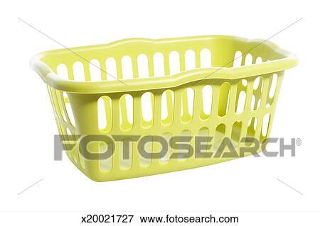 Empty Laundry Basket Clipart Empty laundry basket on white