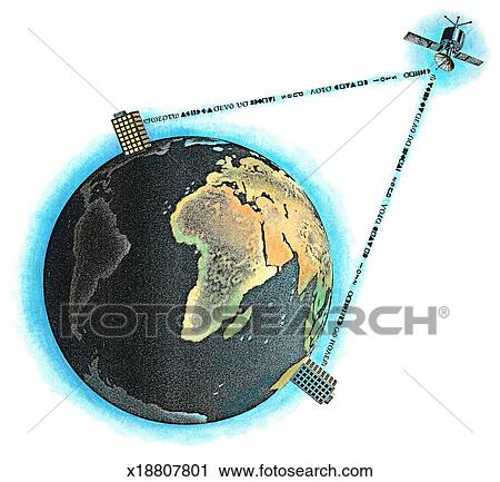 Clipart of Satellite Communications x18807801 - Search ...