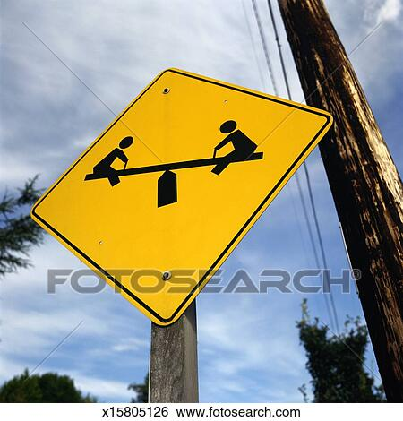 Stock Images of Playground Road Sign x15805126 - Search ...